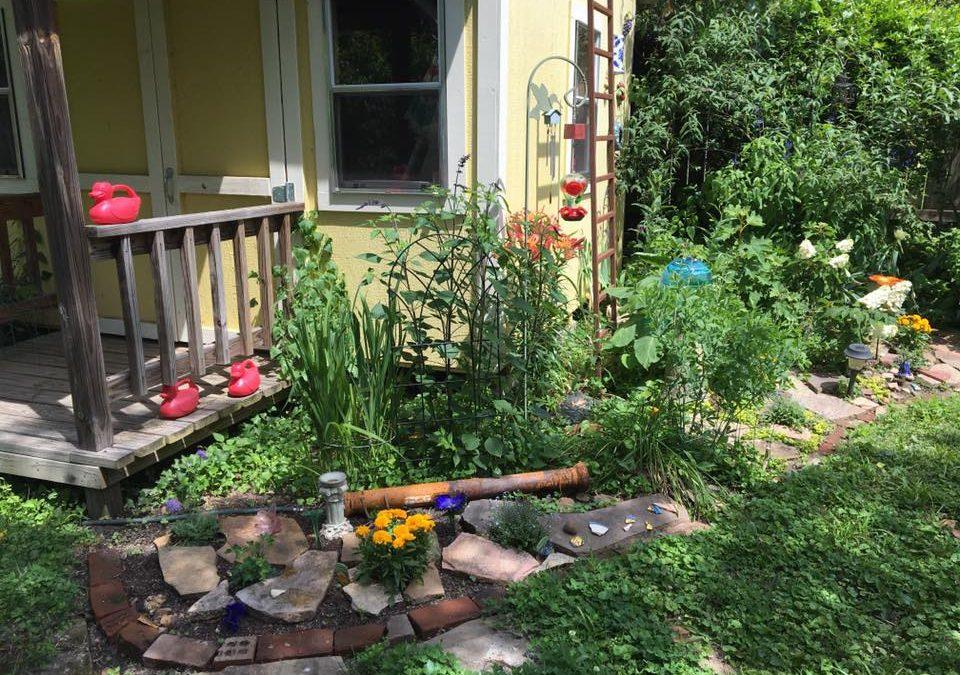 July 2019-Retired art professor turns Philadelphia Street yard into her canvas.