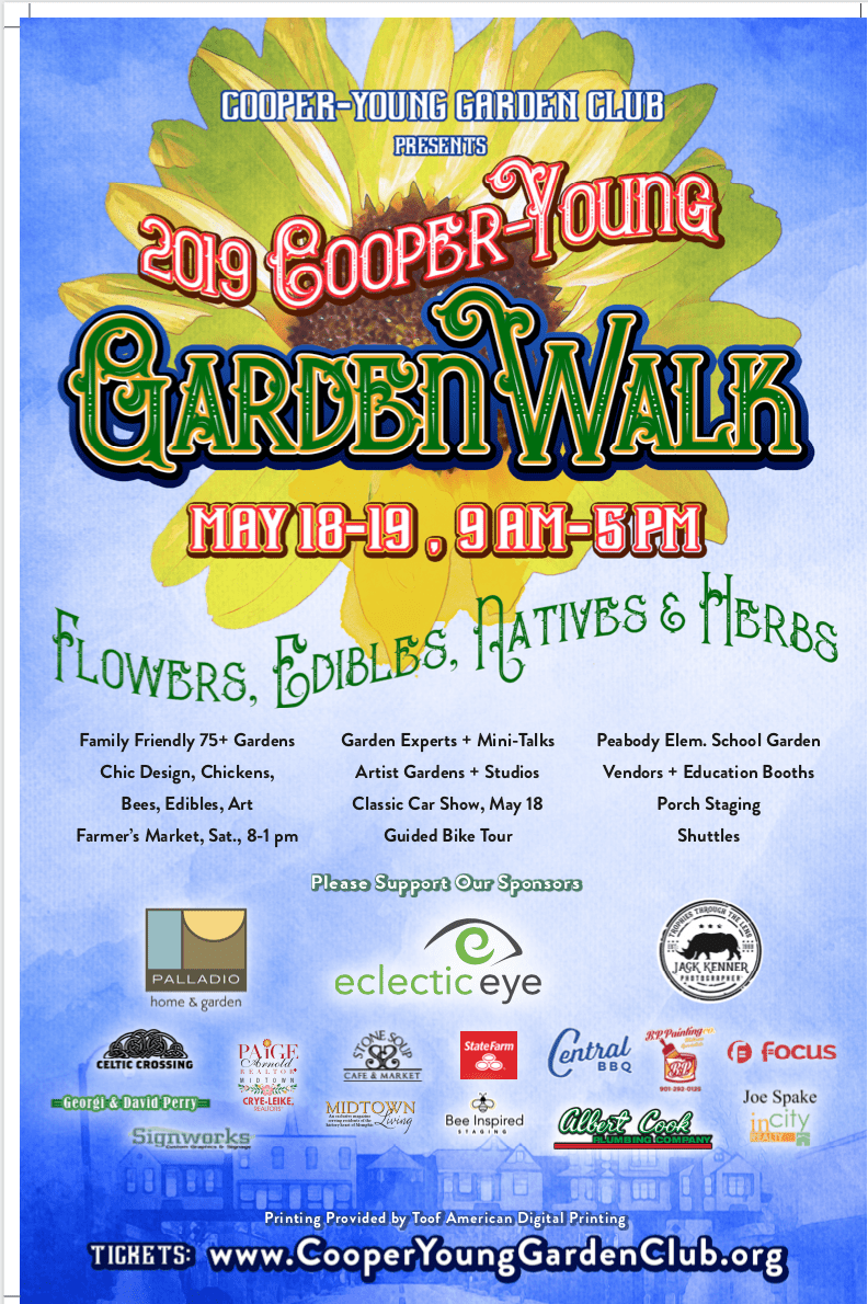 2019 Garden Walk Poster