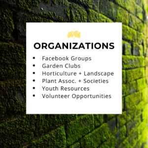 list garden organizations